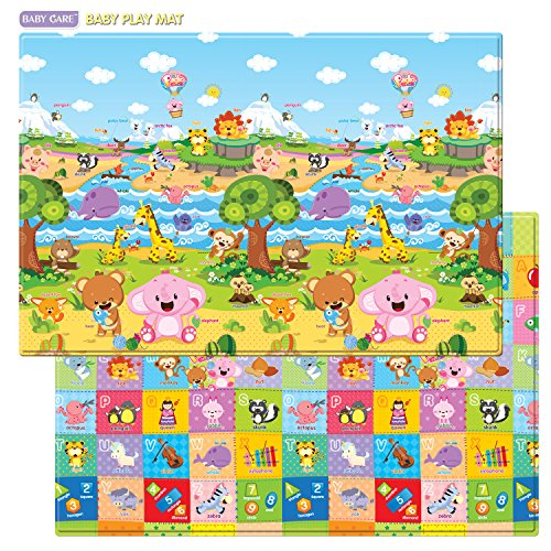 Baby Care Play Mat Foam Floor Gym - Non-Toxic Non-Slip Reversible Waterproof, Pingko and Friends, Large (Kid Floor Mat compare prices)