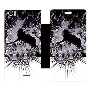 Skintice Designer Flip Cover with Vinyl wrap-around for Noise Lava Pixel V2, Design - Music