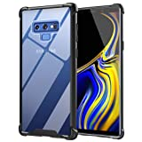 Ztotop Case for Samsung Galaxy Note 9, Hybrid Protective Clear Case Anti-Scratch Shockproof Rugged Hard Back Cover with Soft TPU Bumper Cushion for Samsung Galaxy Note 9,Black (Color: Black)