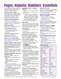 Pages, Keynote, & Numbers Essentials for Mac, versions x.5 Quick Reference Guide (Cheat Sheet of Instructions, Tips & Shortcuts - Laminated Card)
