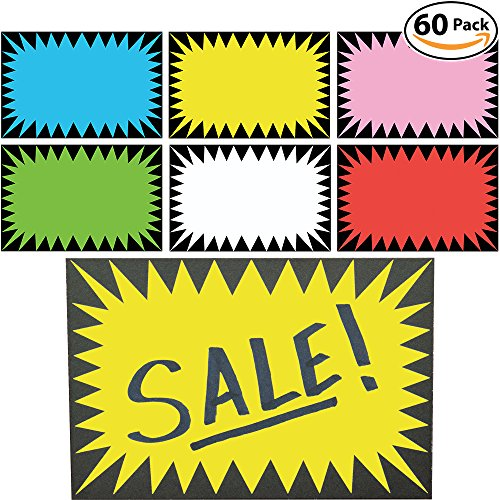 retail-genius-price-burst-60-sign-pack-boost-sales-with-bright-display-tags-durable-easy-to-write-on