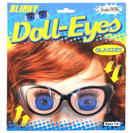 Holographic Blinking Doll Eyes Retro Blinky Glasses - 1