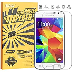 J2 Screen Protector, Galaxy J2 Glass screen protector, E LV Samsung Galaxy J2 ANTI-SHATTER Tempered Glass Screen Protector Scratch Free Ultra Clear HD Screen Guard for Samsung Galaxy J2