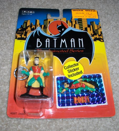 1993 - ERTL / DC Comics - Batman : The Animated Series - Robin - 2 Inch Die Cast Metal Figure - w/ Collector Sticker - #2470 - Out of Production - New - Mint - Rare - Collectible