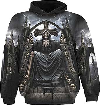 Spiral Direct - Sweat-shirt à capuche -  Homme -  Noir - Noir - XL