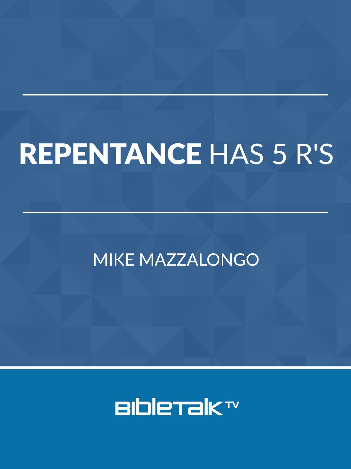 Repentance has 5 R's