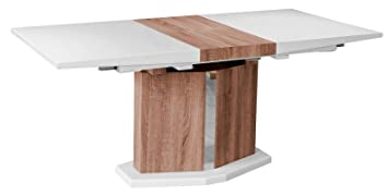White Gloss Wooden Extending Dining Table