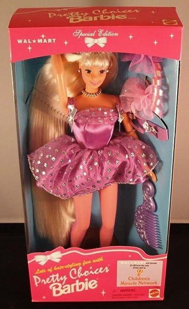 MATTEL BARBIE poupée blonde robe violette très long cheveux 1996 - walmart special edition
