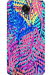 AMEZ designer printed 3d premium high quality back case cover for Micromax Canvas Xpress 2 E313 (abstract flower)