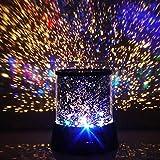DXP WOW!! LED Sternenhimmel-Projektor mit 3 Leuchtprogrammen Nachtlampe Nachtlicht Sterne