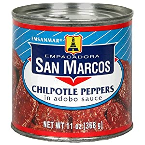 Empacadora San Marcos Chipotle Peppers In Adobo Sauce 11-ounce Cans Pack Of 12 by San Marcos