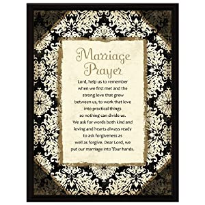 amazon   marriage prayer wood frame plaque with easel