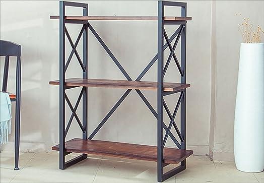 Book Jia librerie Libreria vintage a pavimento multistrato, scaffali, mobile industriale in ferro battuto in ferro battuto, scaffale di stoccaggio, 2 misure librerie moderne ( dimensioni : 80*35*100cm )