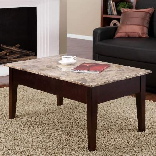 Amazon Dorel Living Faux Marble Lift Top Storage Coffee: Dorel Living Faux Marble Lift Top Coffee Table Furniture