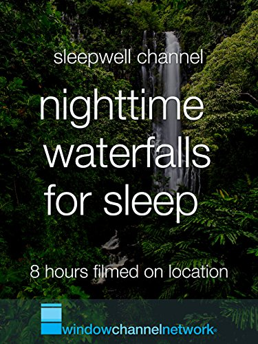 Nighttime Waterfalls for Sleep 8 hours dark screen