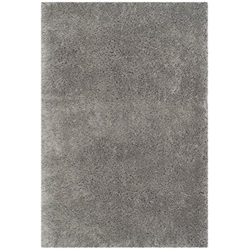 Safavieh Thom Filicia Collection TMF256S Hand-Knotted Silver Wool Area Rug, 4 feet by 6 feet (4' x 6')