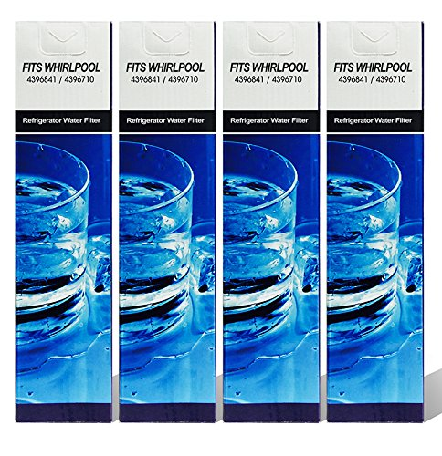 Filter Water Filter, Compatible with Kenmore 4396710, 469020, W10186667 models, 4 pack (Refrigerator Filter 4396711 compare prices)