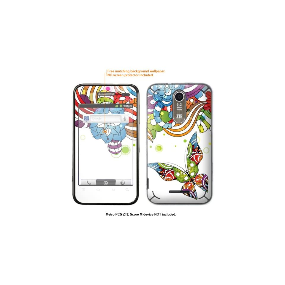 Protective Decal Skin Sticker for Metro PCS ZTE Score M case cover ZTEscoreM 167