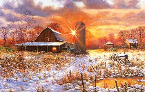 Snow Barn 550 Piece Jigsaw Puzzle by SunsOut Inc.