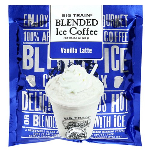 Big Train Blended Ice Coffee, Vanilla Latte, 2.8-Ounce Bags (Pack of 25)