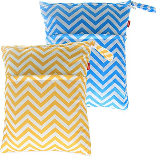 damero-2pcs-pack-cute-travel-baby-wet-and-dry-cloth-diaper-organiser-tote-baglarge-blue-chevron-yell