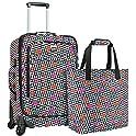 US Traveler US08105BWA Unisex Langford 2-Piece Luggage Set (Checker)
