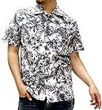 (ルーシャット) ROUSHATTE アロハシャツ 半袖 シャツ ハイビスカス 20柄 S ホワイト