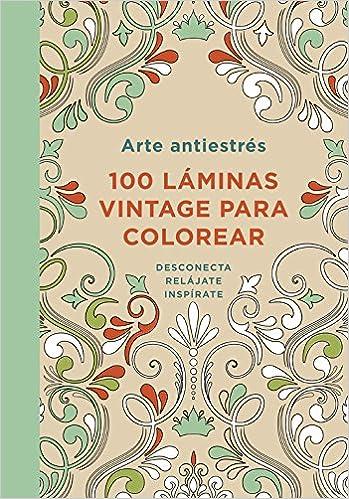 Arte antiestr s 100 l minas vintage para colorear obras - Laminas decorativas para imprimir gratis ...
