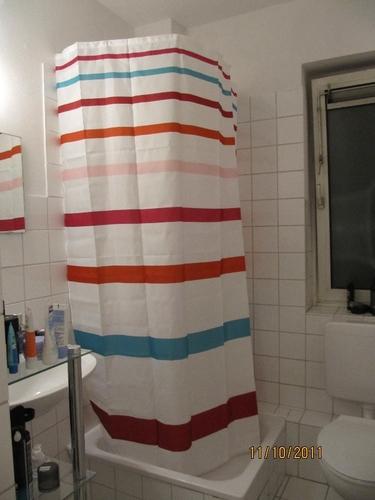 spirella 1004436 duschschirm mit duschvorhang transparent ombrella clear b x h 200 cm x 170 cm. Black Bedroom Furniture Sets. Home Design Ideas