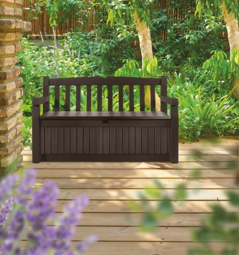 Merveilleux Keter Eden Bench With A Storage Box