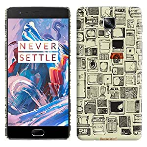 Theskinmantra House Stuff back cover for OnePlus 3/OnePlus Three/1+3