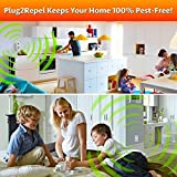 Ultrasonic Electronic Indoor Pest Control Repellent, Repels Rodents, Mice, Cockroaches, Ants & Spiders