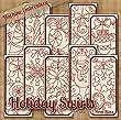 Redwork Holiday Swirls Embroidery Machine Designs on CD - Multiformat by StitchX Embroidery