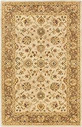 eCarpetGallery Handmade Timeless 5-Feet 2-Inch by 7-Feet 11-Inch Wool Rug, Ivory