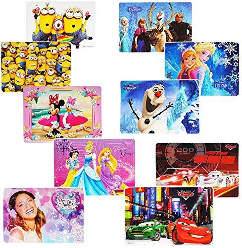 2-Stck--Unterlagen-Mdchen-Motive-43-cm-29-cm-abwischbar-Tischunterlage-Platzset-Tischset-Knetunterlage-Eunterlage-Platzdeckchen-Malunterlage-Frozen-Minnie-Mouse-Minions-Violetta-Princess-fr-Kinder-kle