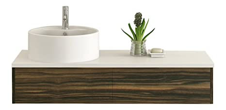 Bath furniture Biel walnut optic