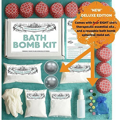 Bath Bomb Mold, (2 Pieces Per 1 Set) Perfect for Round Sphere Shaped Bath Bombs (1, Deluxe Bath Bomb Kit)