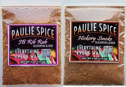 Paulie Spice : BBQ Rub And Seasoning Combo Set (2 Flavors): Sweet And Smoky Rib Rub : Sweet Hickory Smoke Seasoning And Rub : Amazing On Ribs, Pork, Chicken, Wings, Prime Rib And Steak