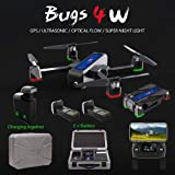 MJX Bugs 4W Foldable Drone with GPS, Full HD 2K 5G WiFi Camera Record Video Bugs GO App Altitude Hold Track Flight 3400mAh Battery Double Charging OLED Screen Remote Control (MJX B4W + Foam Box) (Color: Mjx B4w + Foam Box)