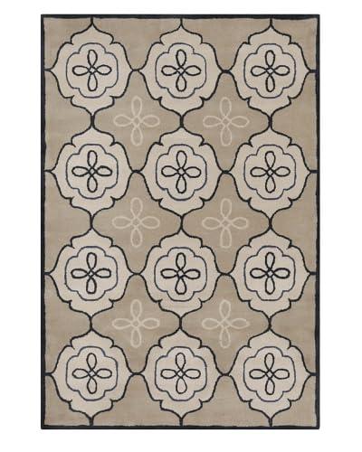 Filament Irish Hand-Tufted Wool Rug, Light Brown, 5' x 7' 6