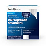 Basic Care Minoxidil Topical Aerosol, 5% Foam, Hair Regrowth Treatment for Men, 12.66 oz (Tamaño: 12.66 fl oz)
