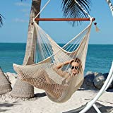 Large Caribbean Hammock Chair - 48 Inch - Polyester - Hanging Chair - cream