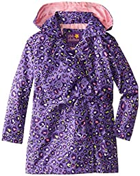 Pink Platinum Little Girls\' Multi Color Animal Trench Jacket, Orchid, 6X