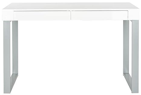 Safavieh EAF2206A Gemma Bureau Bois Blanc/Gris 119 x 59 x 75,94 cm