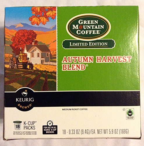 Green Mountain Coffee Limited Edition Autumn Harvest Blend Keurig K-Cups 18 Count (5.9 Ounces) front-503554