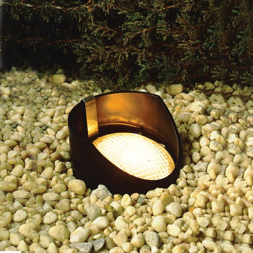 Kichler Lighting 15388BK 12-Volt Low Voltage Yoke Held PAR 36 Well Light, Black
