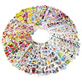 3D Puffy 1600 Sticker Mega Variety Pack, 80 Different Sheets of 3D Puffy Stickers, Including Animals, Fish, Cars, Letters, Numbers, Fruit, Vegetables, Smiley Faces and Lots More!