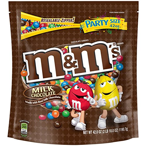 M&M'S Milk Chocolate Candy Party Size 42
