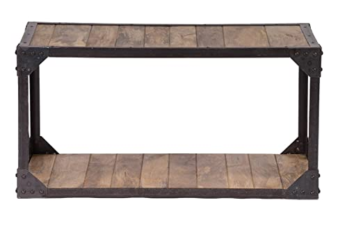 Miliboo - Tavolino industriale in legno e metallo ATELIER