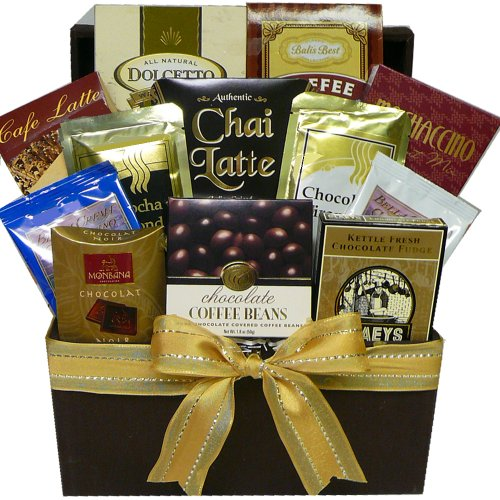 Art of Appreciation Gift Baskets Gourmet Snacks Gift Tote, Coffee, Cappuccino and Latte Lovers